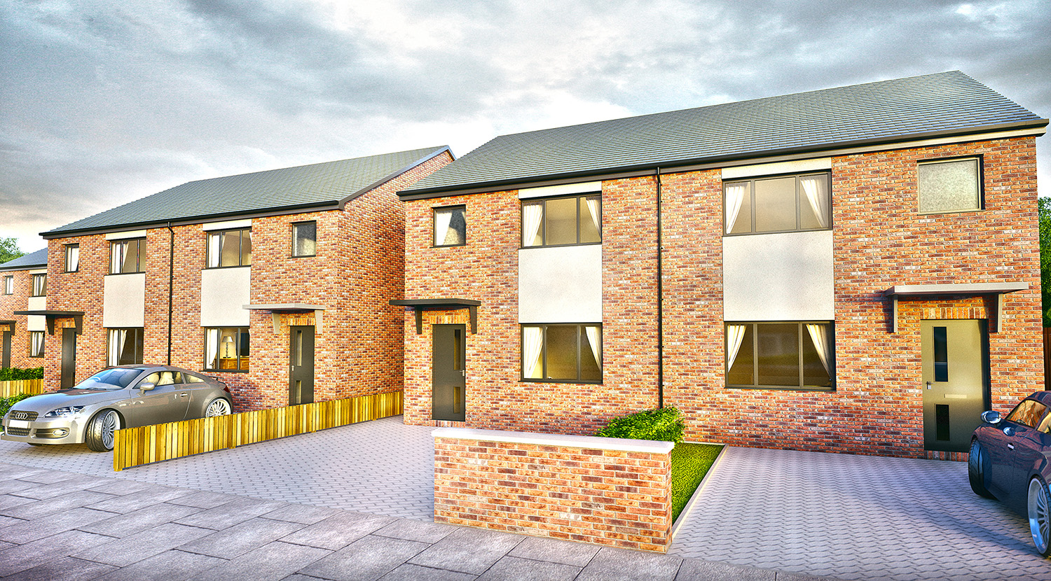 New Housing Development in on Laxton Road, Athersley